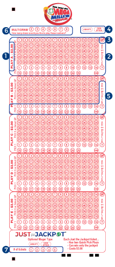 How To Fill Out Your Mega Millions Play Slip